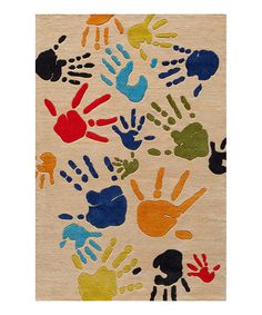 Take a look at this Ivory Finger Paint Rug by Lil Mo by Momeni Rugs on #zulily today!