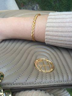 Henri Bendel Purse and Gold Bracelet
