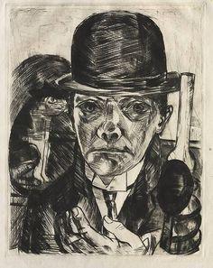 Self-Portrait in Bowler Hat Max Beckmann