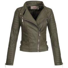 AZ-Damen-Kunst-Lederjacke-Ubergangsjacke-Jacke-Bikerjacke-gesteppt-17069-S-XL