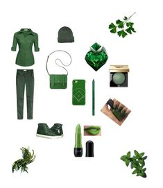 """""""All green look"""" by martens-ingrid on Polyvore featuring мода, Anne Klein, Shibaful, Thierry Mugler, NYX, Bobbi Brown Cosmetics, NICKA, like, GREEN и spring2018"""