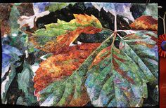 DenieceClarke- wonderful leaf detail. All those fabrics!!luana rubin via Flickr.com