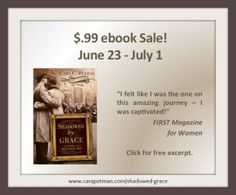 Shadowed by Grace on ebook sale for 99 cents through July 1st. Pick it up if you haven't already. #WWII #MonumentsMen #Italy