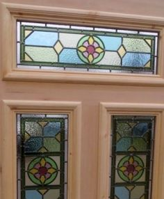 4 Panel Muted Floral Stained Glass Door by Period Home Style. All our work can be customised to create bespoke doors to suit your personal taste. See our website for more information Stained Glass Door, Stained Glass Crafts, Buy Front Door, Victorian Front Doors, Beautiful Front Doors, Oak Panels, Beauty Studio, Mosaic Glass, Personal Taste