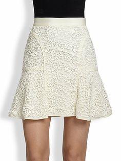 Rebecca Taylor - Guipure Lace Skirt - Saks.com