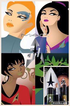 Per il cinquantesimo anniversario di Star Trek, MAC metterà in vendita a partire da settembre una collezione che si ispira ai personaggi femminili della serie cult, ovvero, Commander Deanna Troi, Uhura, Vina Orion Girl e Seven of Nine.
