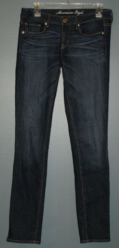 American Eagle Skinny jeans with stretch, women's size 6 long #AmericanEagleOutfitters #SlimSkinny