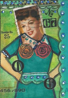 by Sandy: Altered Art Effects: MARION'S POSTAGE STAMP PEOPLE ATC SWAP