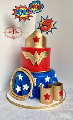 45 trendy birthday party ideas super hero wonder woman ideas for birthday Wonder Woman Birthday Cake, Wonder Woman Cake, Wonder Woman Party, Birthday Woman, Wonder Woman Logo, Superhero Cake, Superhero Birthday Party, 50th Birthday Party, Birthday Cake Girls