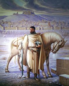 Ser Henel Bennery, Lord Commander of the Denguard - the Northern Knight of Flowers Medieval Knight, Medieval Art, Knight Of Flowers, Crusader Knight, Great Warriors, Religious Paintings, Fantasy Paintings, Cg Art, Knights Templar