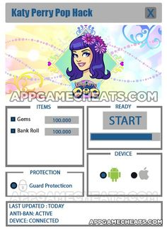 Katy Perry Pop Cheats, Tips, & Hack for Gems & Bank Roll  #KatyPerry #KatyPerryPop #Popular #Simulation http://appgamecheats.com/katy-perry-pop-cheats-tips-hack/
