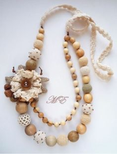 Like this idea for handmade necklace!