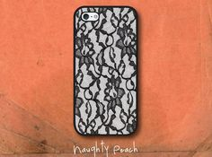 iPhone 5 Case, iPhone 5S Case - Black lace /  iPhone 5S Case, iPhone 5S Cover, Cover for iPhone 5S, Case for iPhone 5S