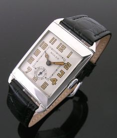 An early silver rectangular vintage Rolex watch, 1926 Stylish Watches, Luxury Watches, Cool Watches, Watches For Men, Men's Watches, Wrist Watches, Vintage Omega, Vintage Rolex, Vintage Watches