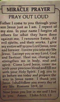 Miracle Prayer - Thank You Jesus Prayer Times, Prayer Scriptures, Bible Prayers, Faith Prayer, Catholic Prayers, God Prayer, Prayer Quotes, Power Of Prayer, Faith In God