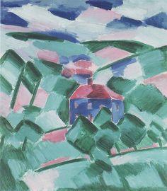 Václav Špála - Krajina / Landscape   1918 Georges Braque, Pablo Picasso, Colourful Art, Fauvism, Art Boards, All The Colors, Modern Art, Art Photography, Art Gallery