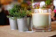 Emily and Michael& Handmade Beachside Wedding Fresh Herbs, Glass Of Milk, Wedding Flowers, Bridesmaid, Surf, Pots, Polka Dot, Handmade, Backyard