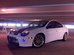 Dodge Neon Srt4- white and blue is so high tech looking
