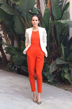 """blazer and jumpsuit combo 
