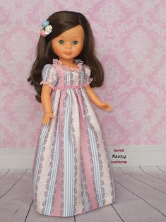 Nancy Girl Doll Clothes, Girl Dolls, Monster High Clothes, Nancy Doll, Wellie Wishers Dolls, Doll Dress Patterns, American Girl, Flower Girl Dresses, Wedding Dresses