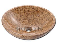 Stone P 058 Gold Granite Vessel Sink