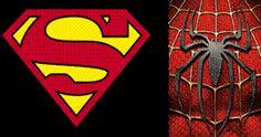 Le identità visive di Floch applicate alla simbologia dei supereroi su Nuvole 2.0, un saggio di semiotica e narratologia sui supereroi, dai fumetti al cinema mainstream