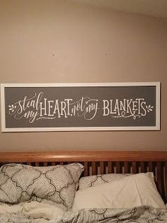 The Not So Simple Mama: DIY Above the Bed Sign