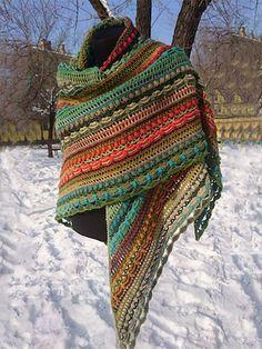 Poncho Au Crochet, Crochet Shawls And Wraps, Crochet Scarves, Crochet Clothes, Knit Crochet, Vintage Accessories, Winter Accessories, Crochet Projects, Knitting Patterns