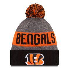 Men's New Era Heather Gray Cincinnati Bengals 2016 Sideline Official Sport Knit Hat | Bengals Pro Shop