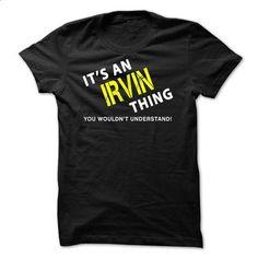 It is an IRVIN Thing Tee - teeshirt cutting #tee times #purple hoodie