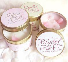 Geurkaarsen - Scented candles - Fairy dust - Powder puff