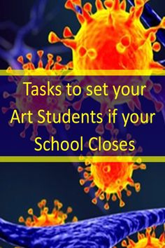 Tasks to set your Art Students if your School Closes - Gymnasium Middle School Art, Art School, Primary School Art, School Stuff, Art Classroom, Classroom Art Projects, Classroom Resources, Classroom Organization, Teaching Resources