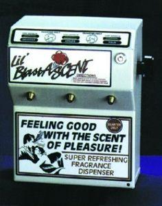 not vintage but look like it:  Li'L Blast -A-Scent  Vending Machine