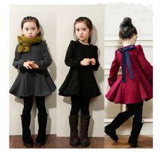 New Fashion Baby Girls Dress Winter Kids Children Clothes Dress thick Warm #DressyEverydayHolidayPageantWedding