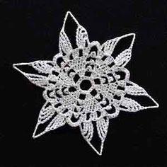 "Crochet Snowflake #13; 4"" diameter"
