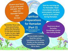 Spiritual Preparations for Ramadhan 2 Islam Ramadan, Ramadan Mubarak, Ramadan Is Coming, Ramadan Tips, Islamic Celebrations, Eid Crafts, Eid Al Fitr, Alhamdulillah, Way Of Life