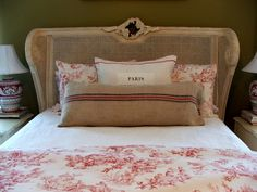Layers of Pink Toile in Paris Bedroom