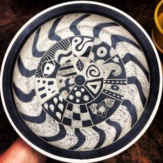 Sgraffito. Mud Queen Pottery