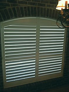 3 1 2 Quot Real Wood Painted Plantation Arched Shutters With
