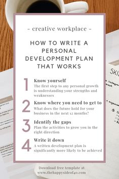 How to write a personal development plan that works in 4 easy steps