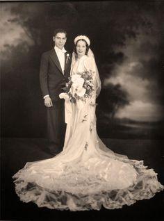 +~+~ Vintage Photograph ~+~+ Chelsea MA Studio - Wedding Portrait  #PhotographySerendipity #photography #wedding Vintage wedding photography