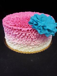 Cookie Jar Bakeshop I Custom Cakes I Birthday Cake I Pink Ombre Birthday Cake