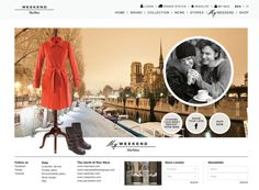 Details of the website as featured within CoolHomepages web design inspiration gallery. Web Design Gallery, Max Mara Weekend, Brand Collection, I Shop, Website, World, Shopping, Design Web, The World