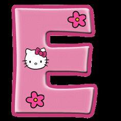 Alfabeto de Hello Kitty con letras grandes. | Oh my Alfabetos!