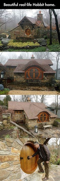 Real life hobbit home…oh my, god. I would love a hobbit home like this!