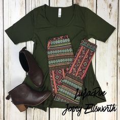 LuLaRoe Perfect T with Leggings and Toms booties. Join my shopping group to shop my outfits! www.facebook.com/groups/LuLaRoeJenny/