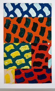 Claude Viallat - Sans titre.1981 (acrylique sur bâche 342 x 204 cm)