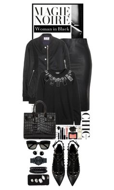 """""""Woman in Black"""" by shortyluv718 ❤ liked on Polyvore featuring Relaxfeel, Valentino, Acne Studios, Movado, Spring Street, Yves Saint Laurent, Kate Spade, STELLA McCARTNEY, Mimco and By Terry"""
