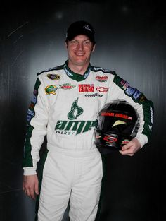 Dale Earnhardt Jr., driver of the #88 Amp Energy Chevrolet, poses during the 2011 NASCAR Sprint Cup Series Media Day at Daytona International Speedway on February 10, 2011 in Daytona Beach, Florida.