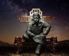 Genghis Khan. Bronze sculpture. Author Ivan Korzhev